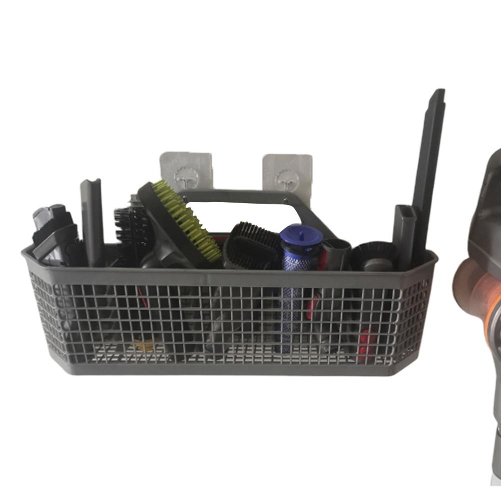 Free Punching Storage Basket Space Saving Organizer Holder for Vacuum Cleaner Accessaries