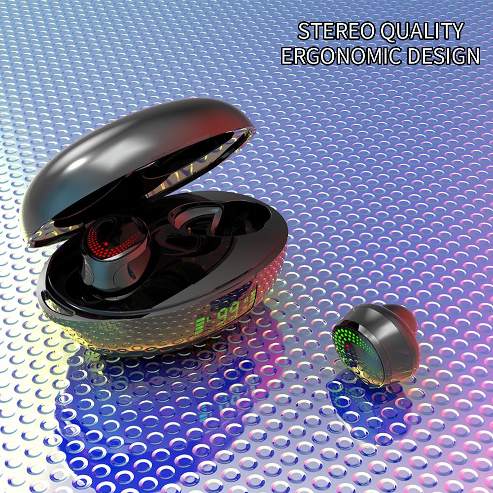 Wireless Binaural In-ear Bluetooth 5.0 Earphones With Power Display Multifunction Earphones Black