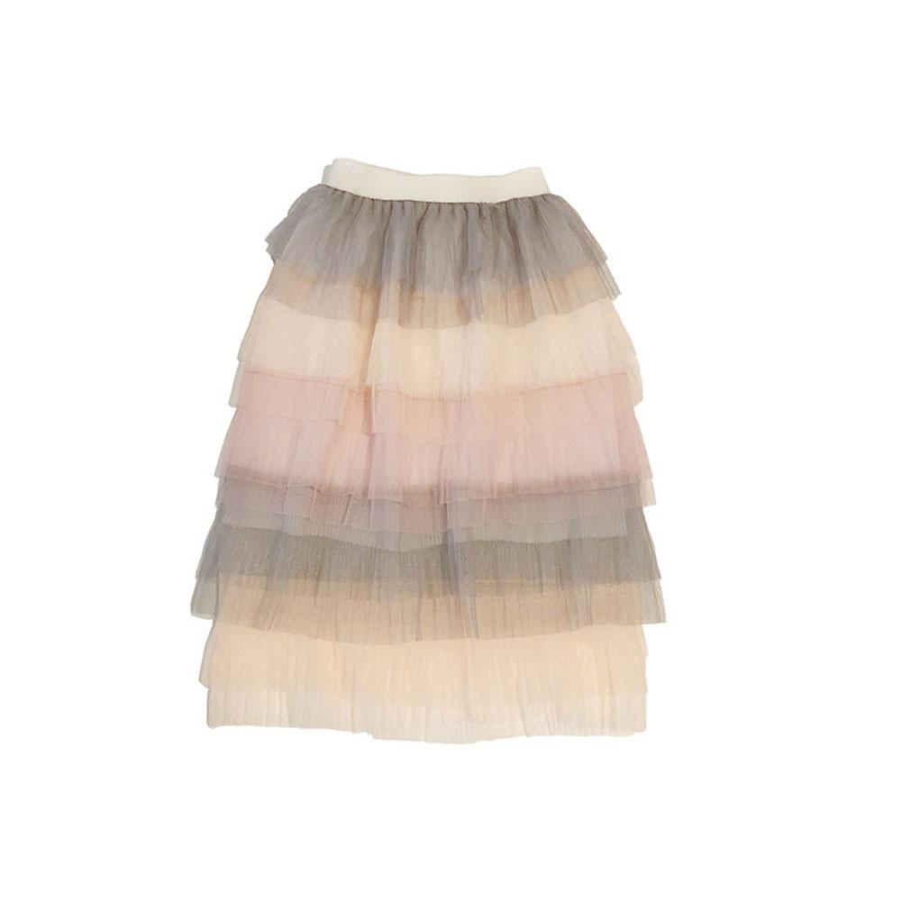 Children Baby Girls Rainbow Gradient Tutu Long Skirt As shown _15(7-8Y)
