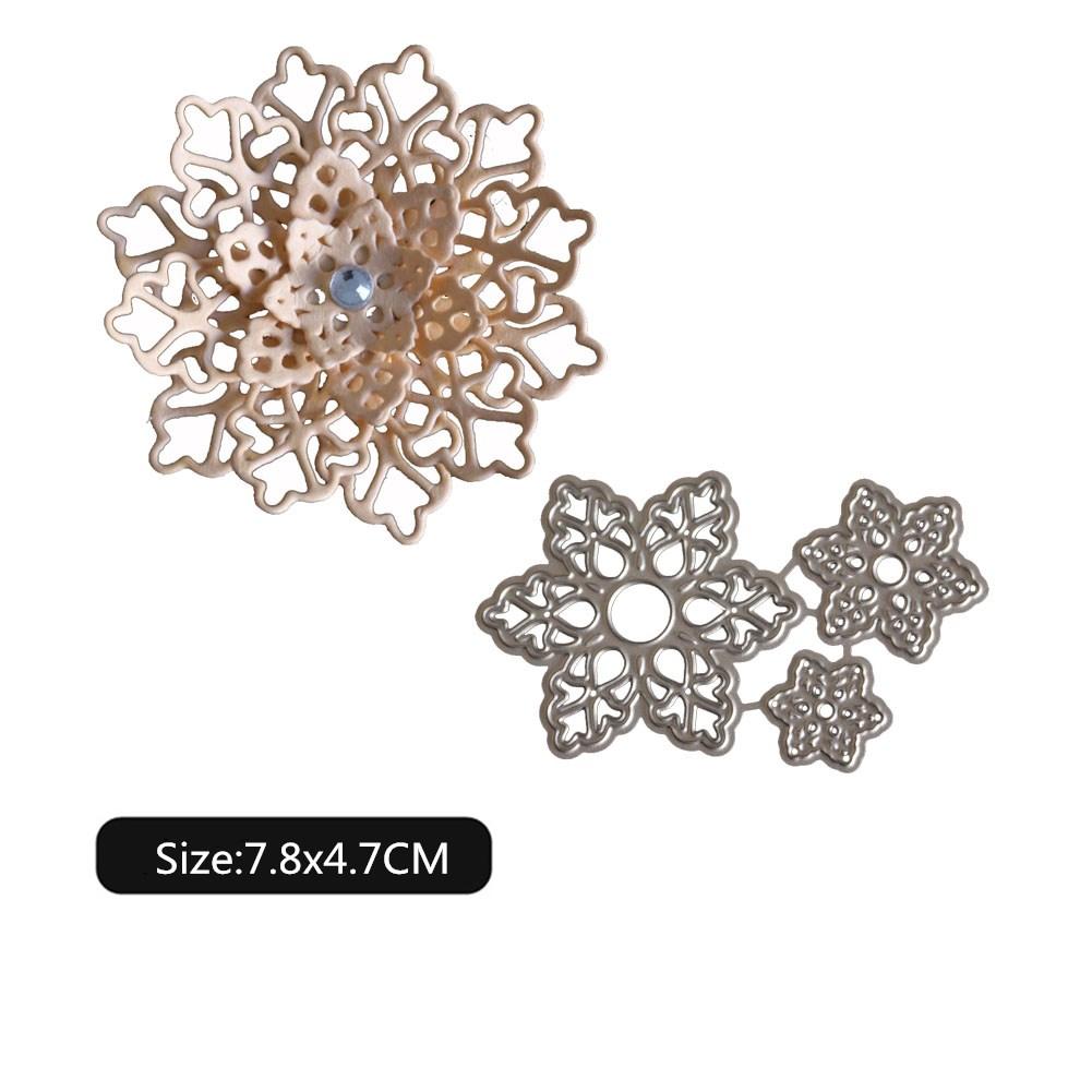 Carbon Steel Cutting Dies Hollow Flower Pattern DIY Mold for Scrapbook 1803412