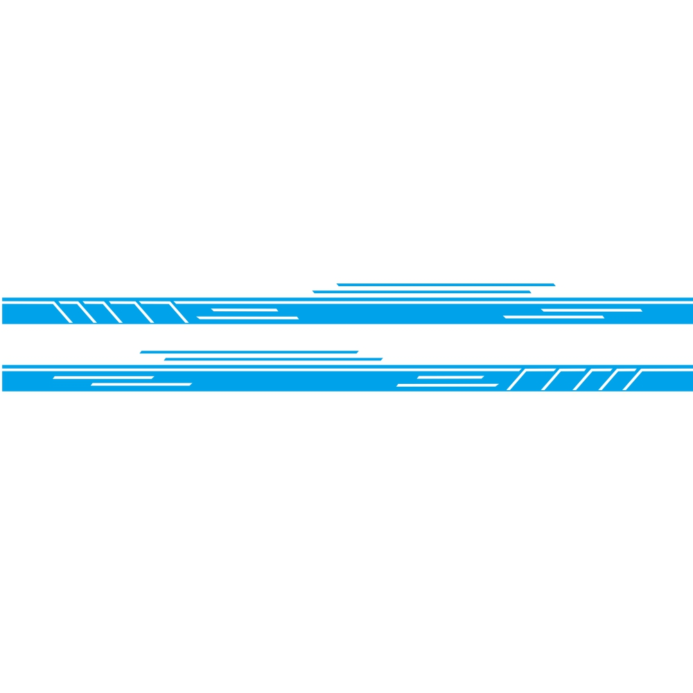 Vinyl Stripes Decal Car Body Side Wrap Black Graphics Waterproof Sticker blue