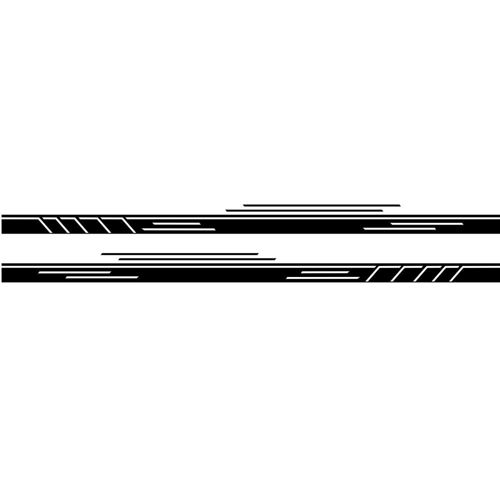 Vinyl Stripes Decal Car Body Side Wrap Black Graphics Waterproof Sticker black