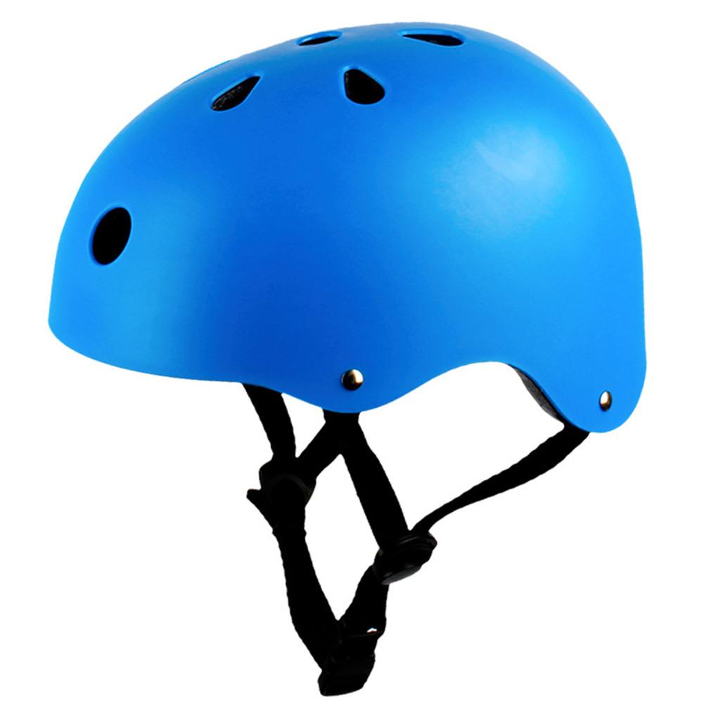 Adult Outdoor Sports Bicycle Road Bike Skateboard Safety Bike Cycling Helmet Head protector Helmet Matte-blue_L