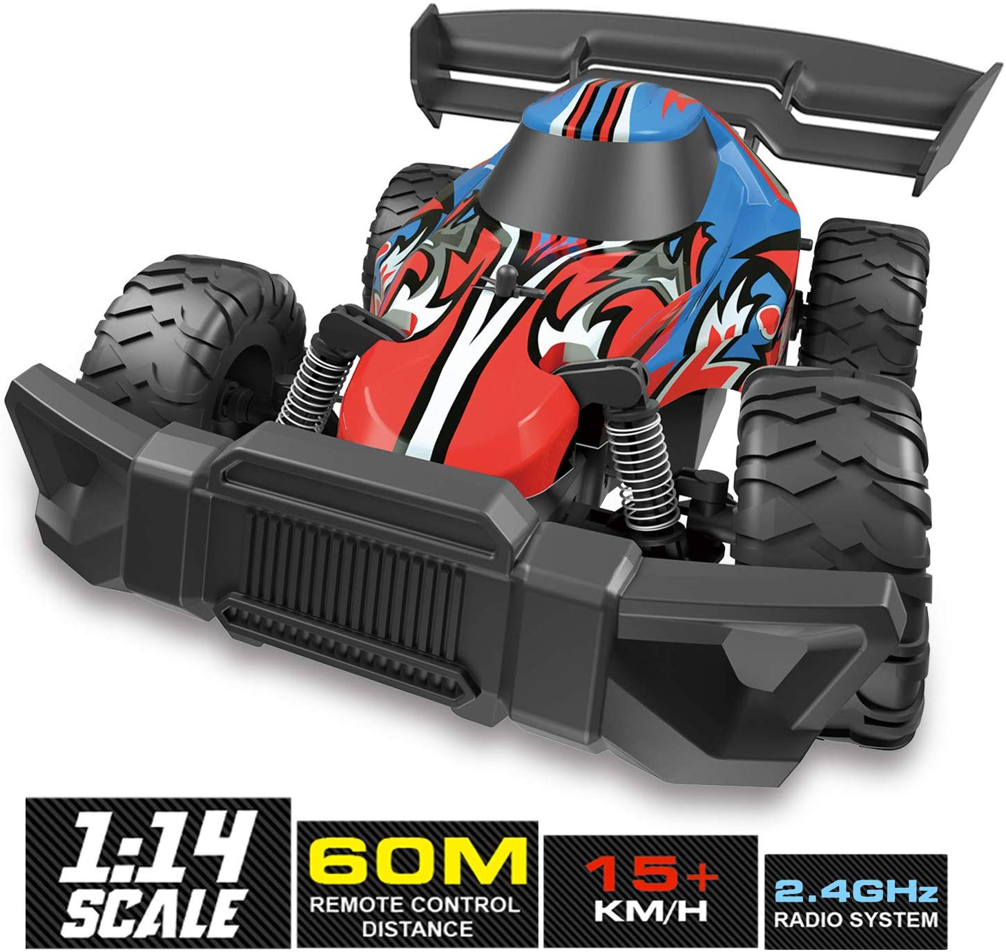Remote Control Car 1:14 Large Size High Speed Off Road Kids RC Racing Car Boys Radio Controlled Crawler Electronic Vehicle Truck  Blue red