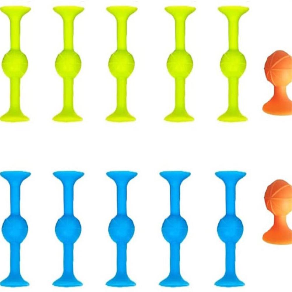 12 Pcs/set Suction  Cup  Desktop  Dart  Toy Soft Plastic Building Blocks Stress Relive Toys Large