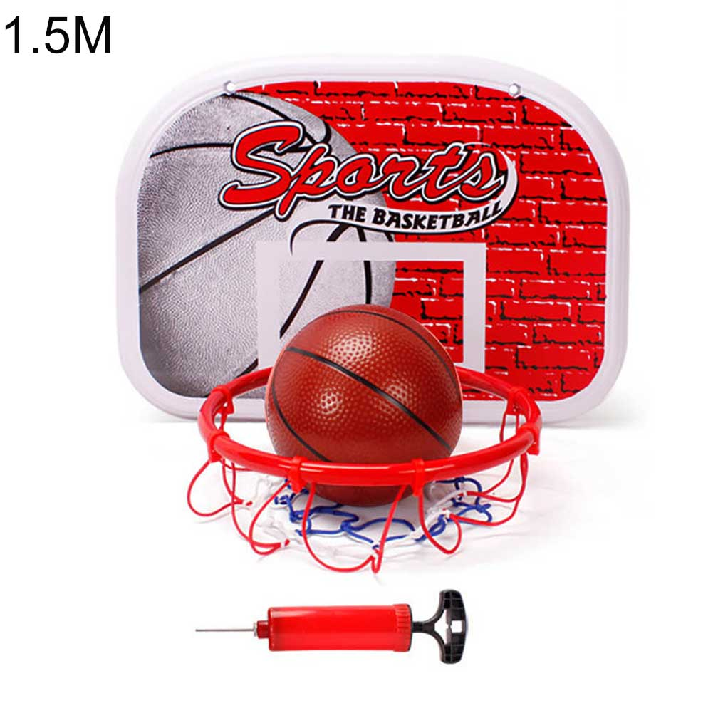 Basketball Stand Outdoor Indoor Sports Height Adjustable Basketball Stand System Hoop Backboard Net Kit for Children B
