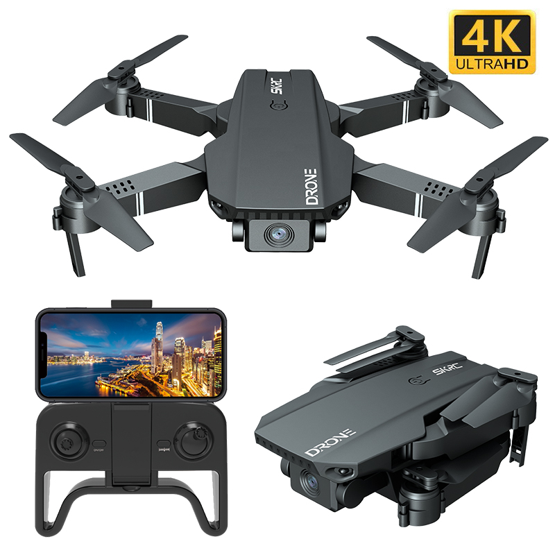 S107 Folding  Drone 4k Motion-picture Camera Long Lasting Four-axis Remote Control Aircraft 2 battery