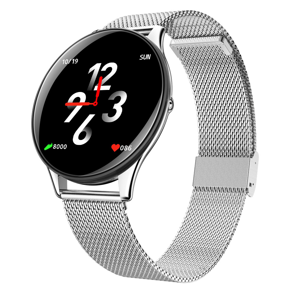SN58 Smart Bracelet IP67 Waterproof Wristband Activity Fitness Track Heart Rate Blood Pressure Monitor Fitness Smartwatch silver