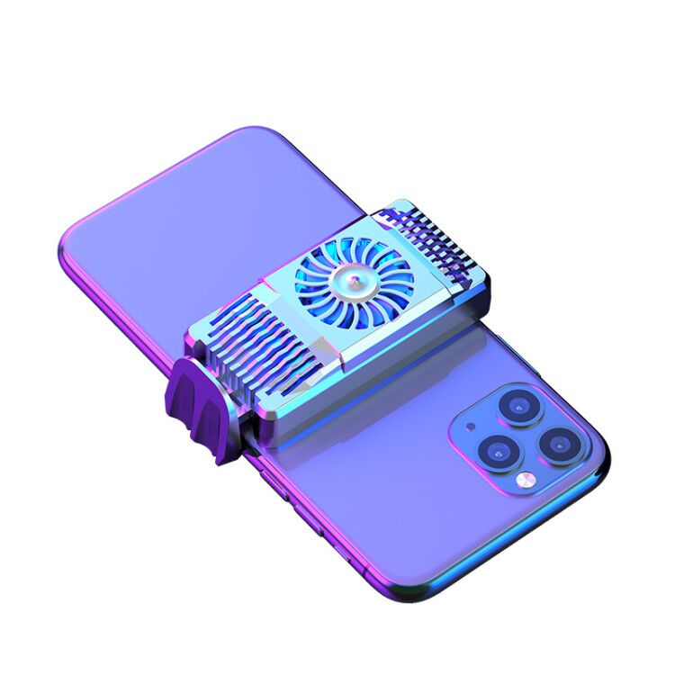 Air Cooler Mobile Phone Fast Radiator For Android IOS Smartphone Cooling Fan Silver