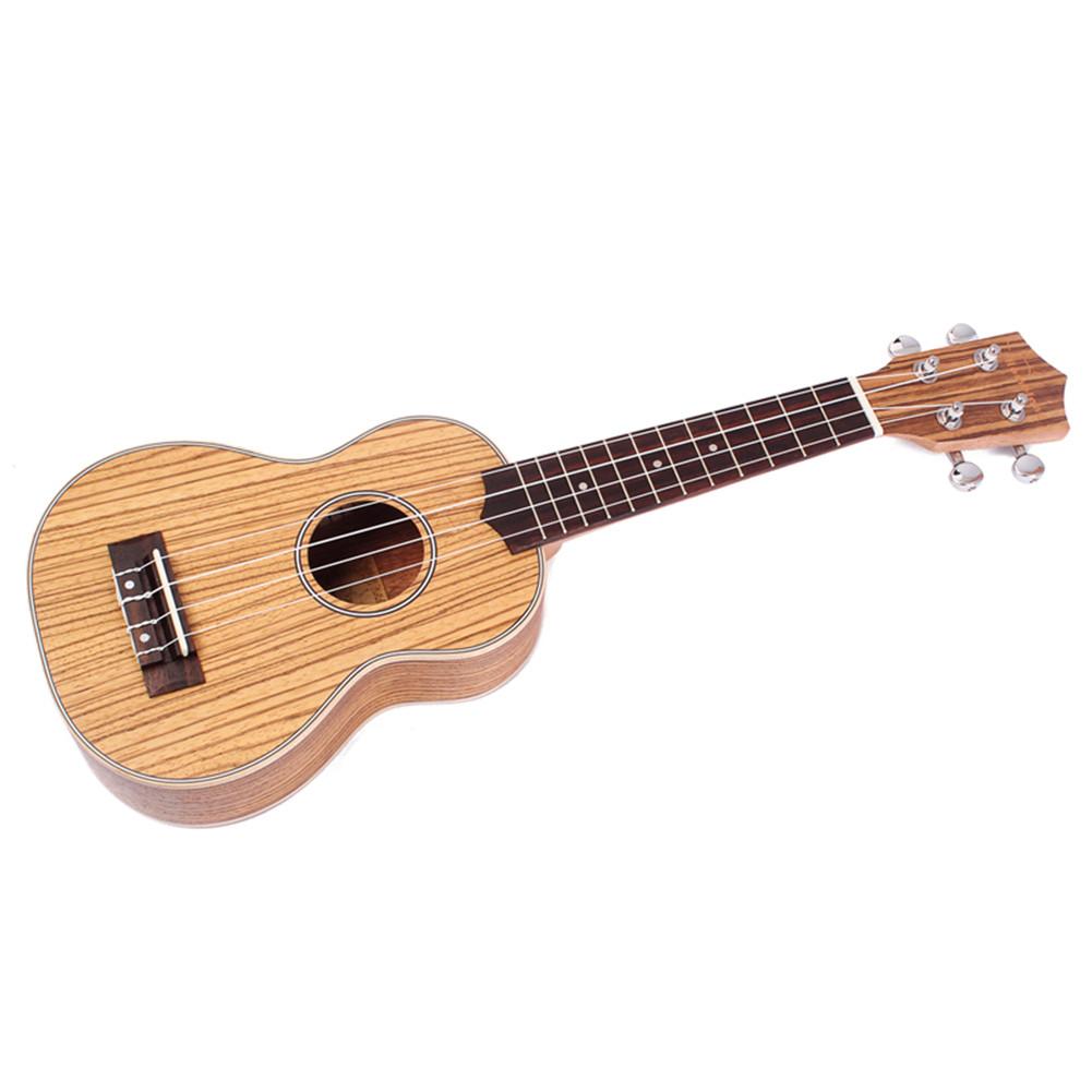 21 inch Zebrano Wood Ukulele Hawaiian Small Guitar Sting Instrument
