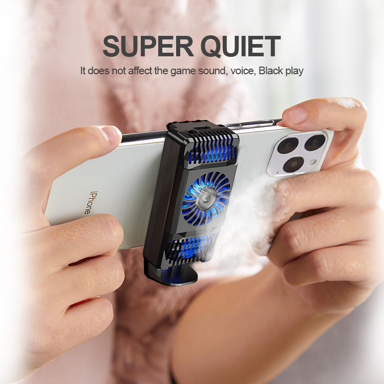 Air Cooler Mobile Phone Fast Radiator For Android IOS Smartphone Cooling Fan black