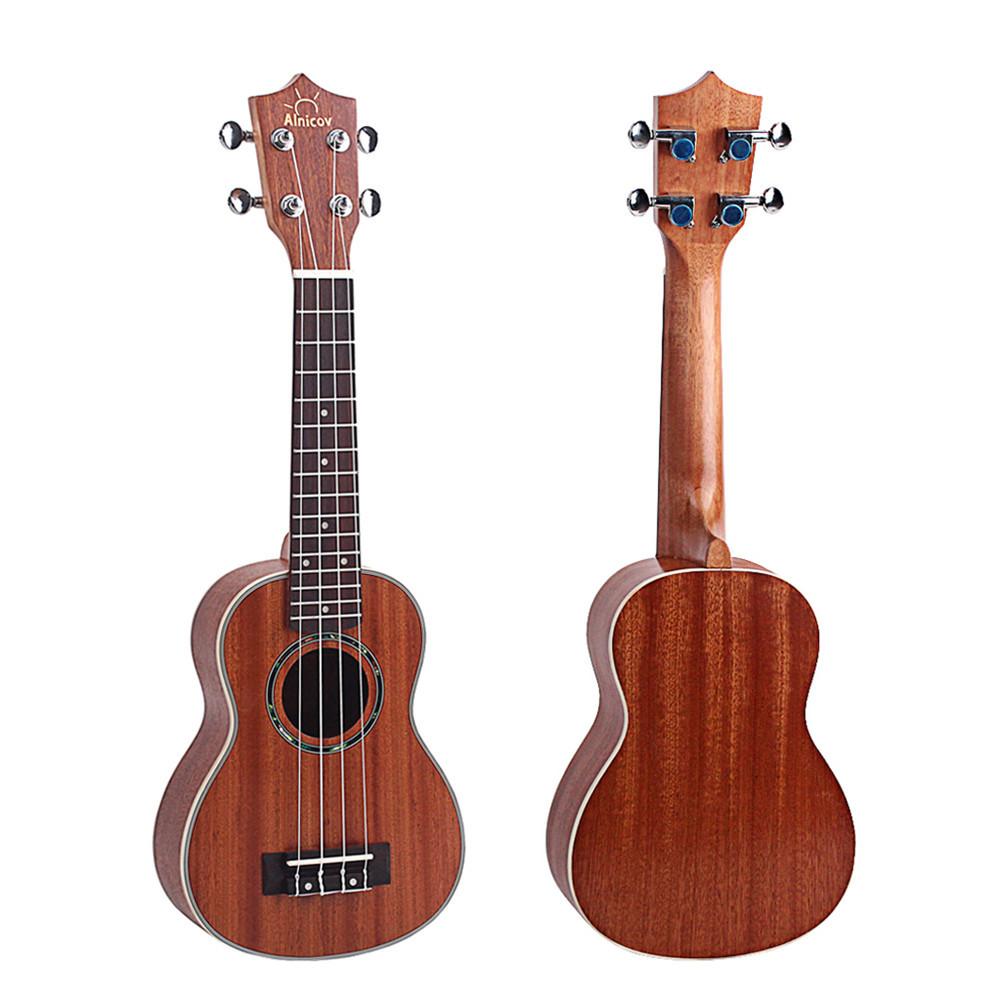 21 inch Mahogany Wood Ukulele Hawaiian Small Guitar Sting Instrument
