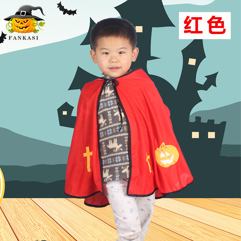 Children Halloween Costumes Ox Horn Devil Cloak Cute Cosplay Costume red