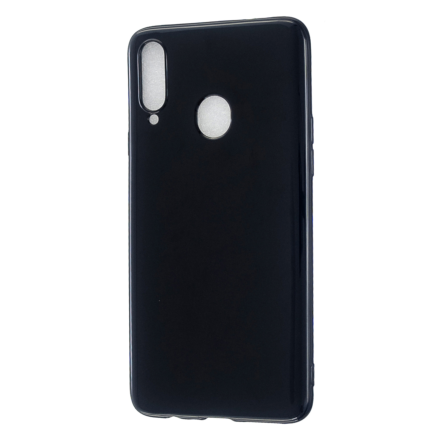 For Samsung A10S/A20S Cellphone Cover Soft TPU Phone Case Simple Profile Full Body Protection Anti-scratch Shell Bright black