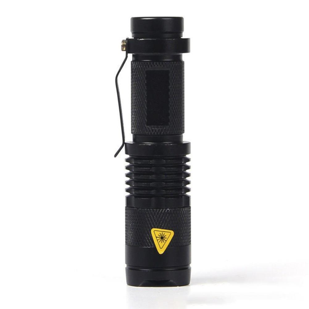 Pocket Torch Light with Adjustable Super Bright Zoom Function Mini Portable Flashlight