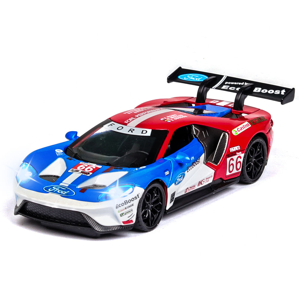 Simulate Alloy Racing Car Model Toy for Ford V8 Collection Home Decoration Red top