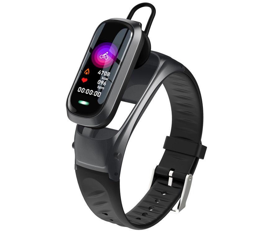B9 Smart Bracelet Bluetooth5.0 Wristband Heart Rate Activity Sleep Monitor Fitness Tracker Intelligent Watch  black