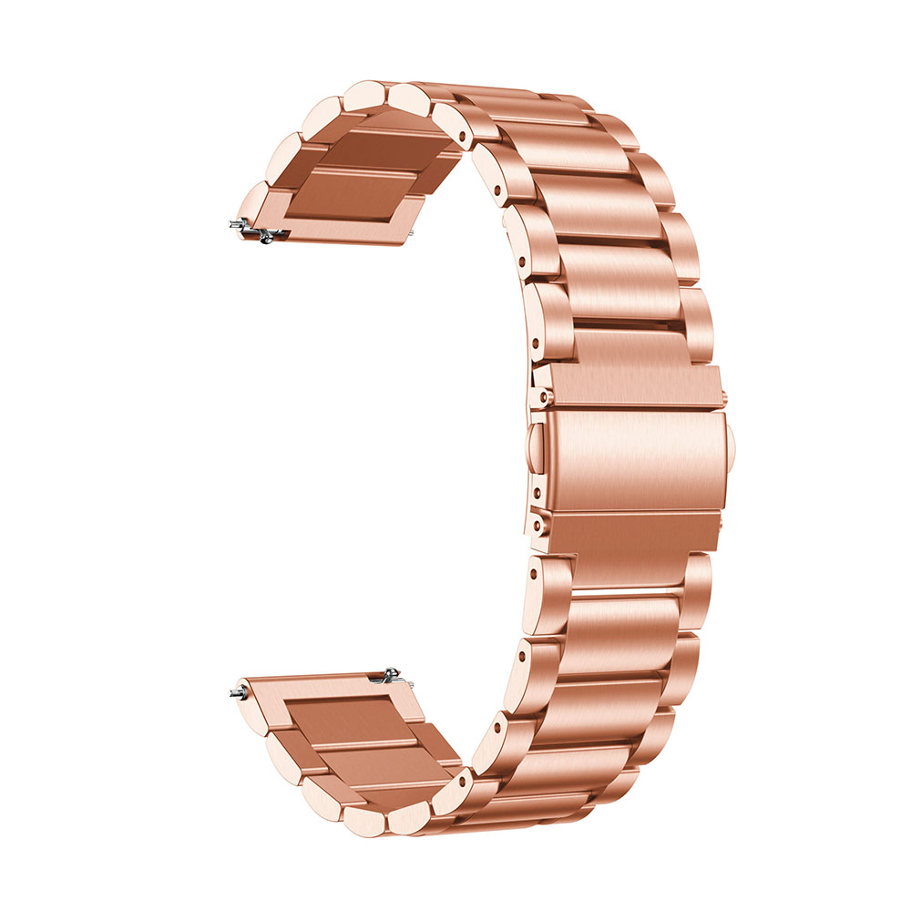 20/22mm Stainless Steel Watch Band Universal for Ticwatch/Moto 360 2nd 460/Samsung Gear S3/HUAWEI GT Metal Wristband rose gold_22CM