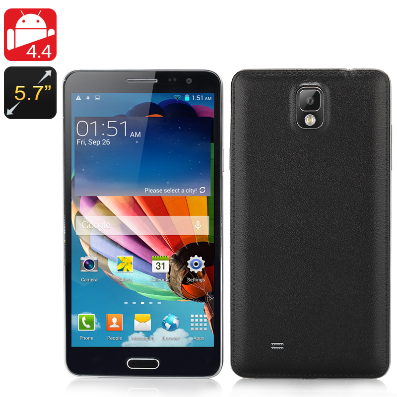 Android 4.4 Octa Core Phone 'Note3' (Black)