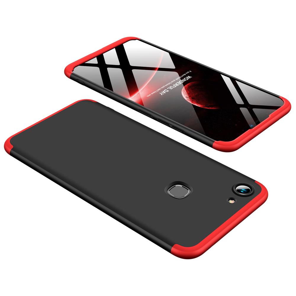 For VIVO Y83 Fingerprint Slim 3 in 1 Hybrid Hard Case Full Body 360 Degree Protection Back Cover Red black red