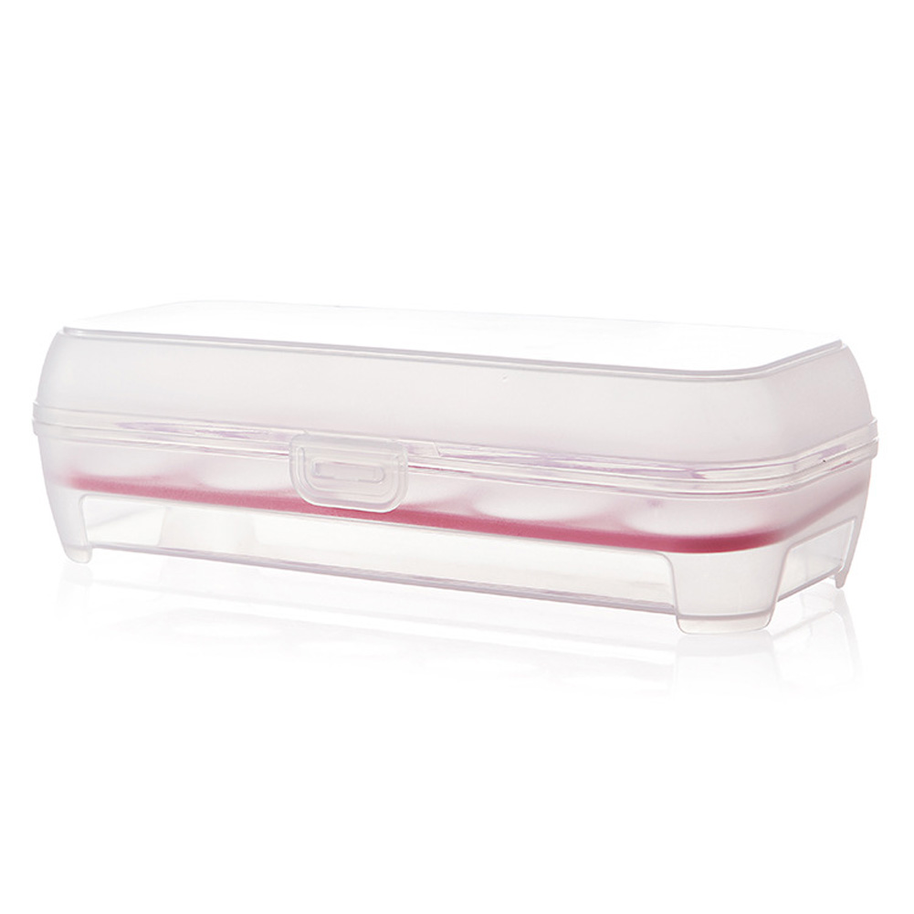 10 Grids Kitchen Egg Box Food Organizer Storage Tray for Kitchen Refrigerator Accessories Rose Red