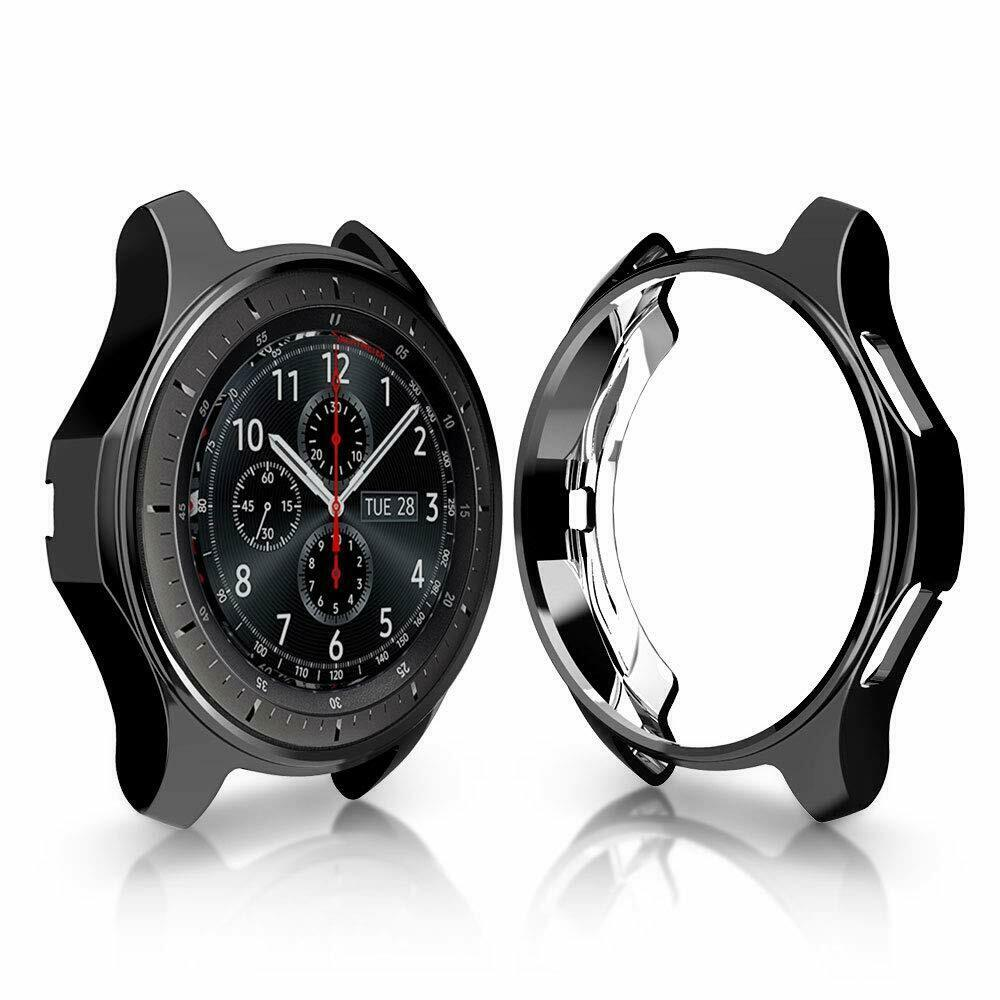 Soft TPU Protector Watch Case Cover for Samsung Galaxy Watch 42mm 46mm black_42mm