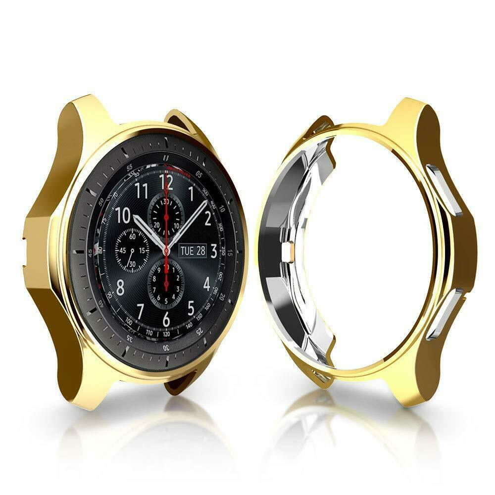 Soft TPU Protector Watch Case Cover for Samsung Galaxy Watch 42mm 46mm Gold_42mm