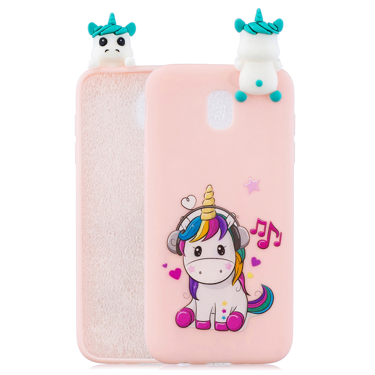For Redmi 8A 3D Cartoon Painting Back Cover Soft TPU Mobile Phone Case Shell Music unicorn