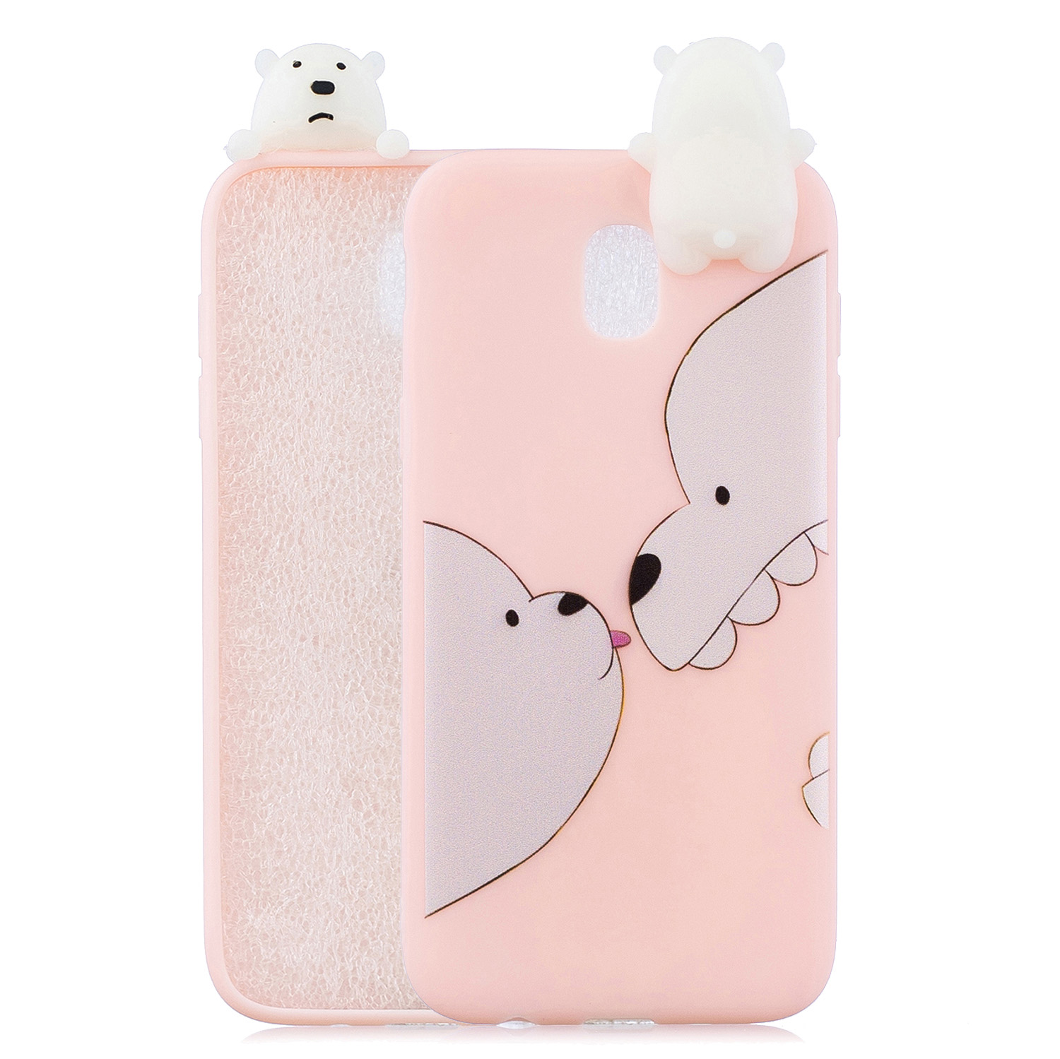 For Redmi 8A 3D Cartoon Painting Back Cover Soft TPU Mobile Phone Case Shell Big white bear