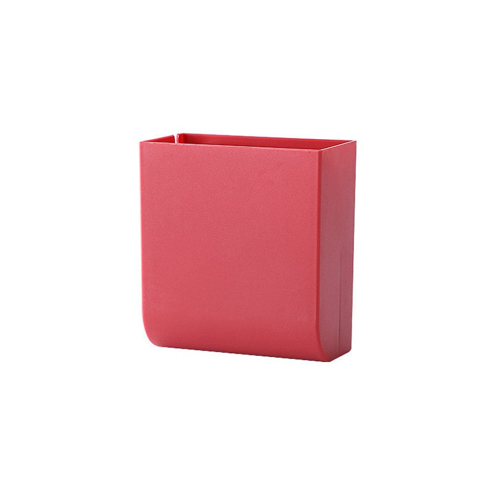 Wall Hanging Storage Box Multifunction Remote Control Storage Case Mobile Phone Plug Holder Stand Container red