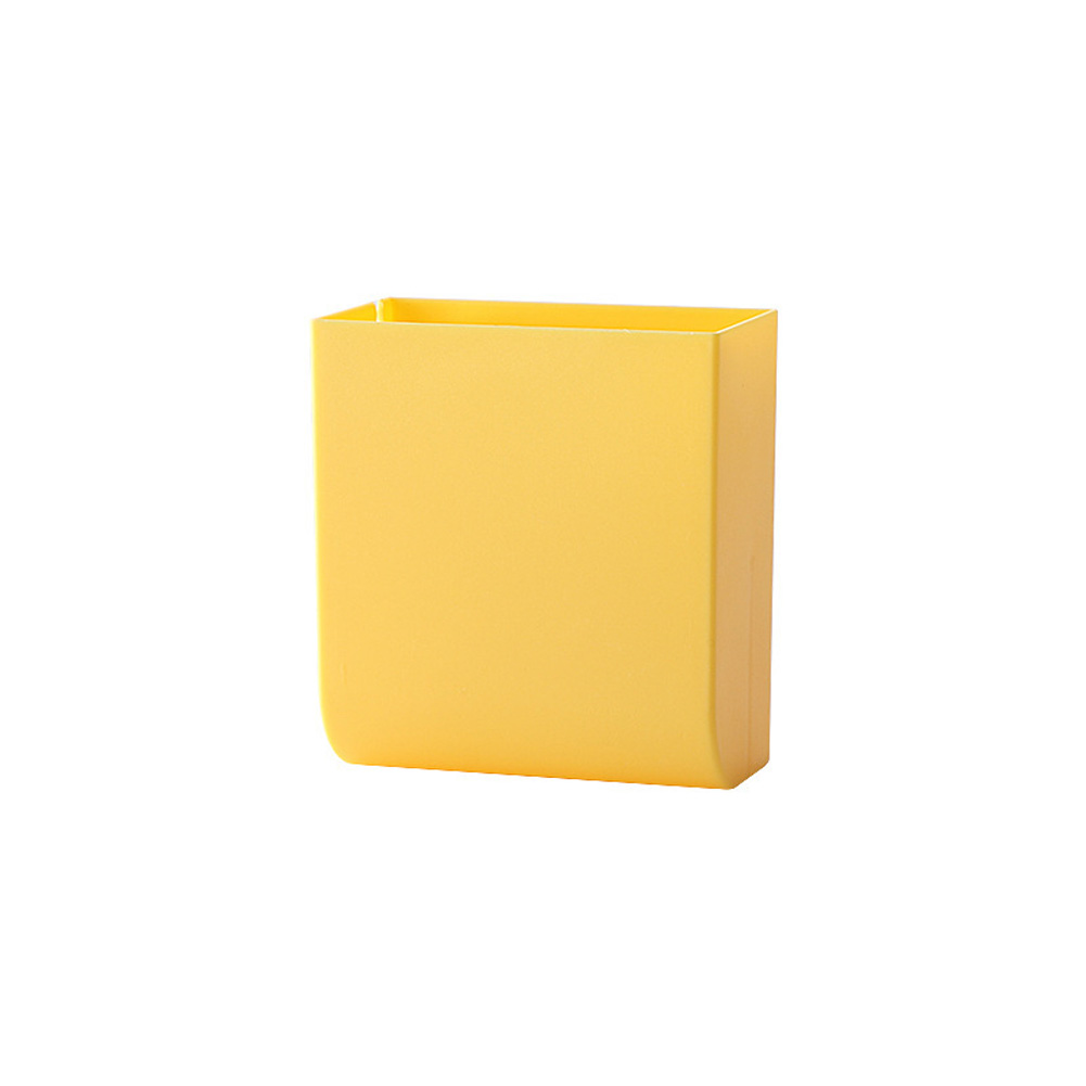 Wall Hanging Storage Box Multifunction Remote Control Storage Case Mobile Phone Plug Holder Stand Container yellow