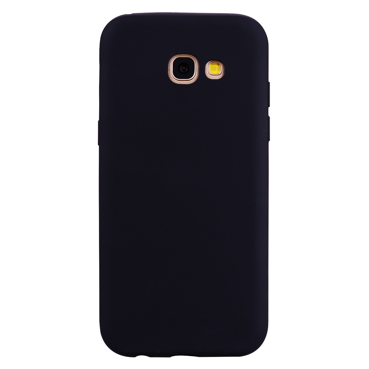 for Samsung A5 2017 Cute Candy Color Matte TPU Anti-scratch Non-slip Protective Cover Back Case black