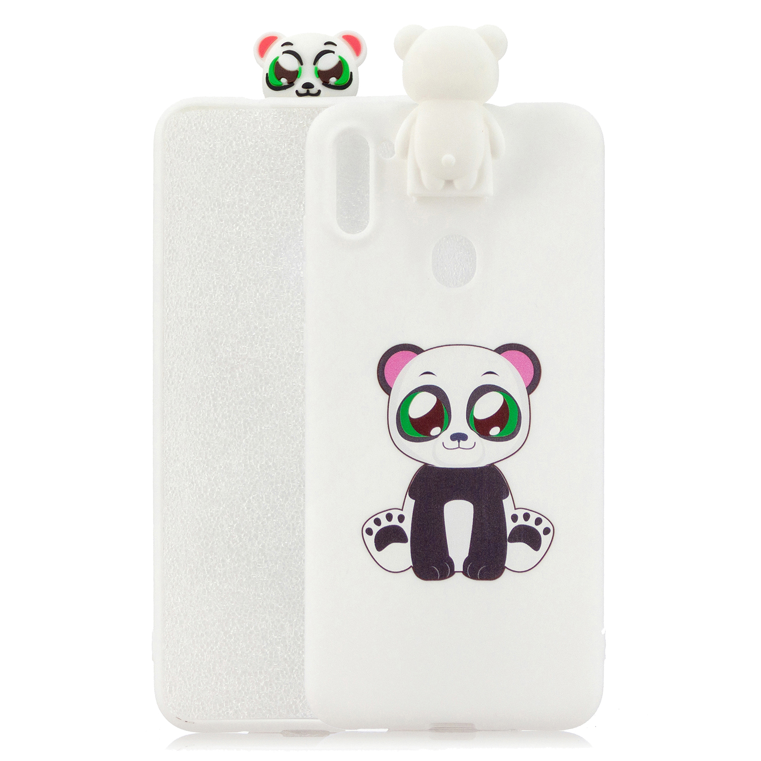 For Samsung A11 Soft TPU Back Cover Cartoon Painting Mobile Phone Case Shell with Bracket panda