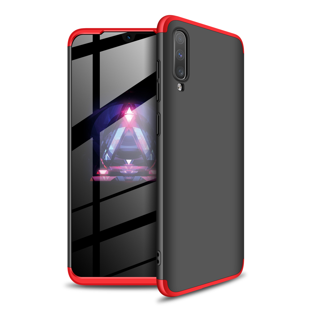 For Samsung A70 Ultra Slim PC Back Cover Non-slip Shockproof 360 Degree Full Protective Case Red black red