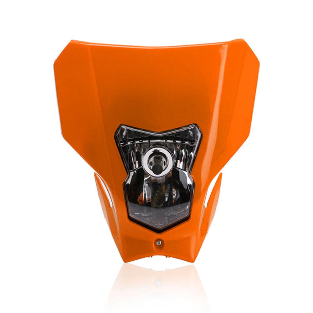 Off Road Dual Sport Motocross Headlight KTMH4 Running Head Lamp Halogen orange