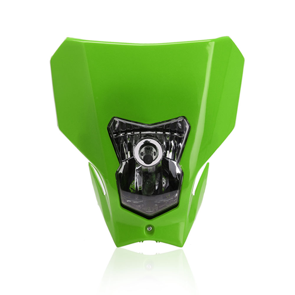 Off Road Dual Sport Motocross Headlight KTMH4 Running Head Lamp Halogen green