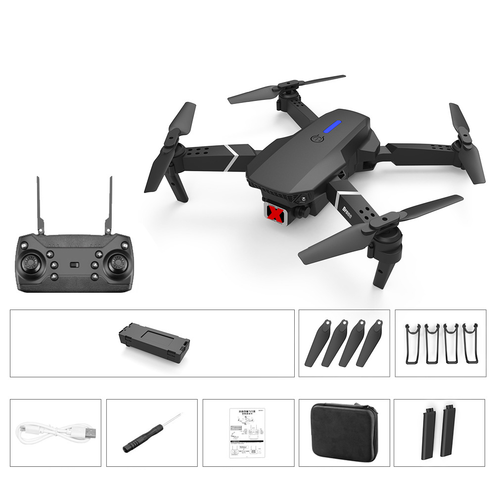 LS-E525 PRO Three Side Obstacle Avoidance HD RC Quadcopter Standard without aerial photography storage bag_2 battery package