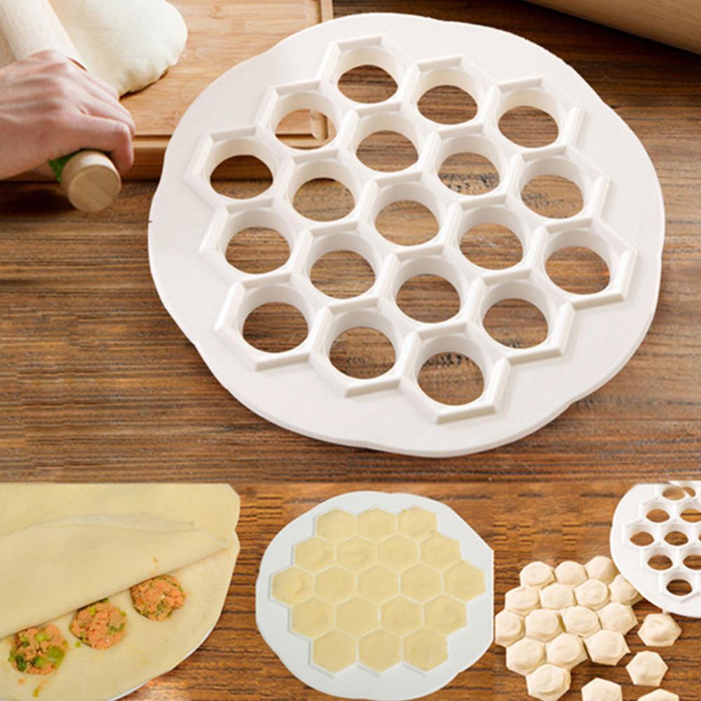 19 Holes Easy Dumpling Maker Dough Press Mold Tool Kitchen Gadget Pastry Tools As shown
