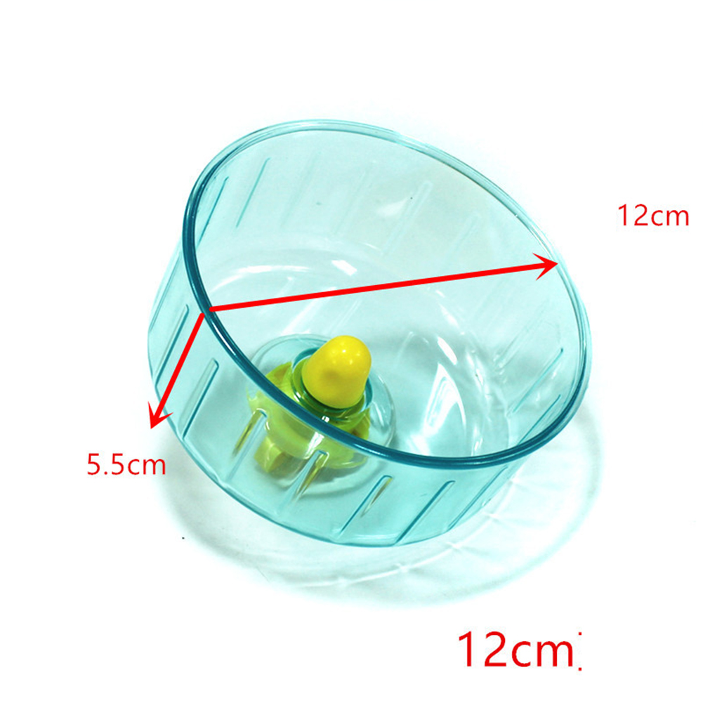 12cm Silent Running Wheel Hamster Seamless Round Roller Exercise Running Toy Pet Supply