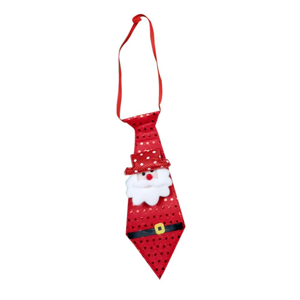 Christmas Tie LED Glow Santa Claus Snowman Elk Bear Sequins Cute Necktie for Children Adult Glow Santa Claus