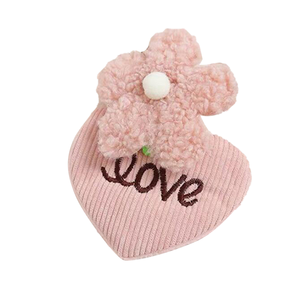 1 Pc Hair Beauty clips With Strawberry Flower Bangs Corduroy Face Wash Makeup Plush Hair Accessories 3 # Pink love