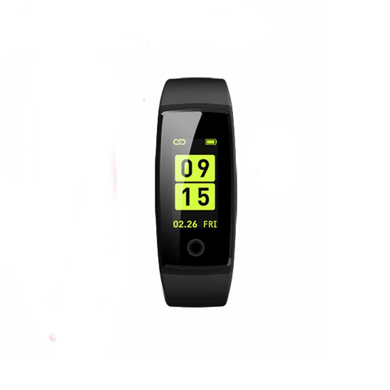 0.96 Inch IPS Color Screen Waterproof Dustproof Smart Bracelet Fitness Tracker Heart Rate Blood Pressure Monitor Passometer Bluetooth Multifunction Wristband