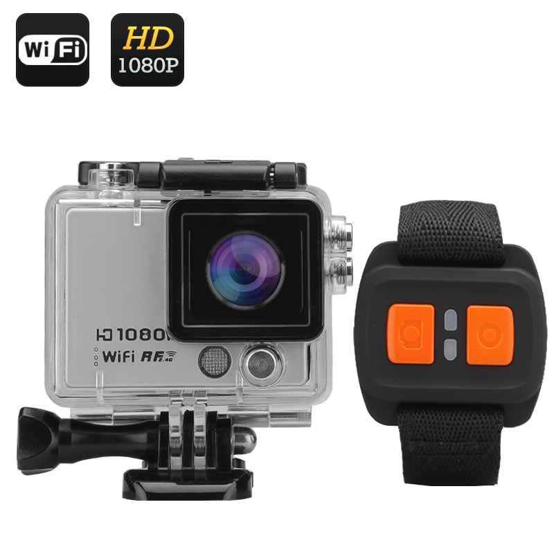 Waterproof Action Camera With Remote Strap