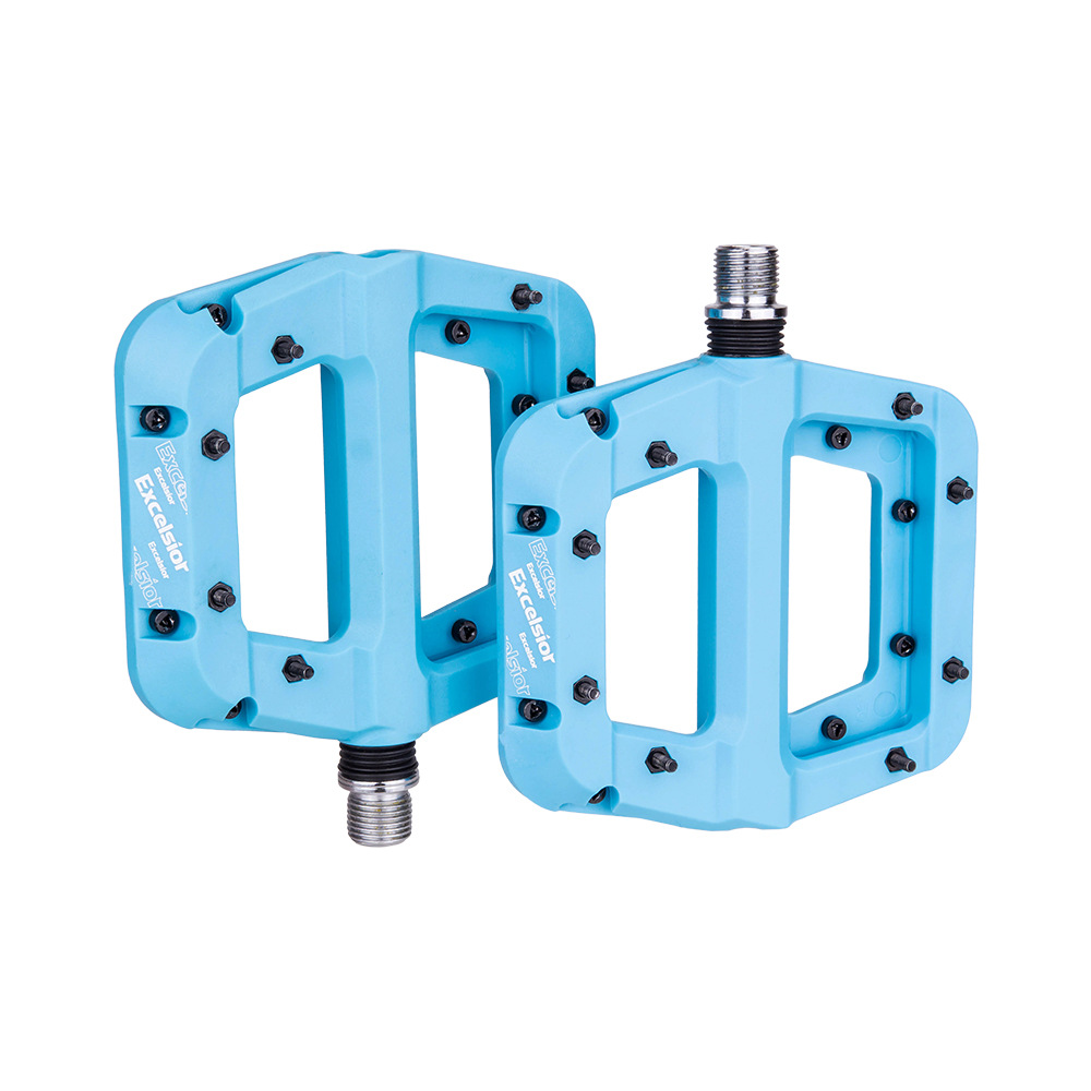 1 Pair of Nylon Pedals Bearing Pedal Non-slip Pedal for Mountain Bike blue