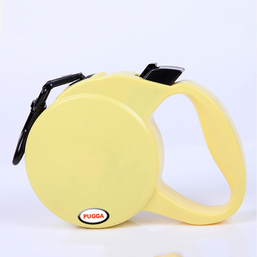 Retractable Pet Leash for Outdoor Large Medium Small Dogs Walking Leads Yellow_S