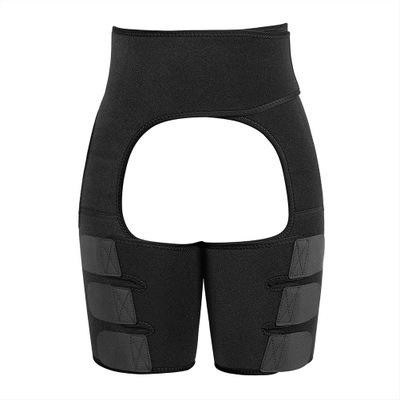 Women Thigh Shaper High-Waist Adjustable Leg Slimming Waist Trimmer Wrap Belt Shapewears black_M