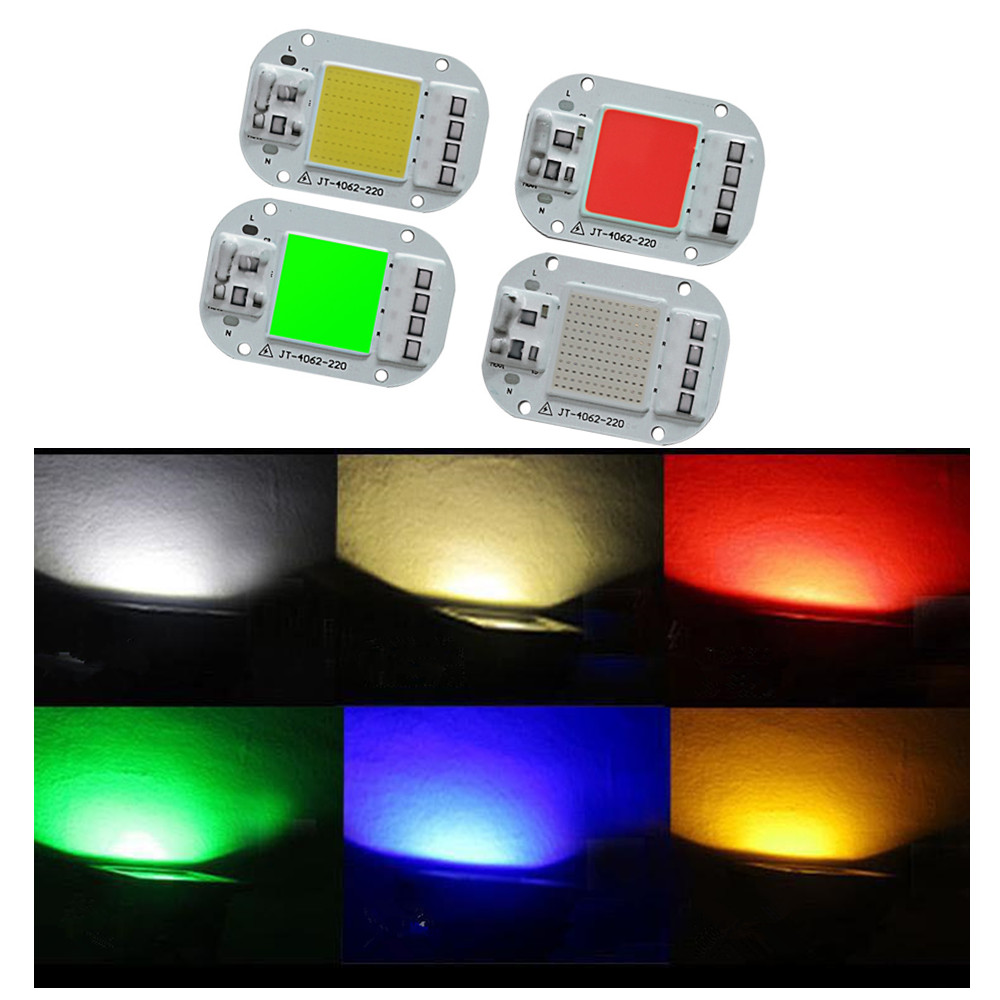 AC 220V 20W/30W/50W Free Driver COB Light Source High Pressure LED Chip Green light