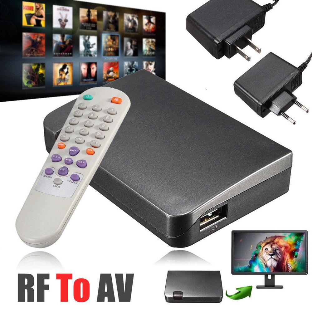 RF to AV Analog TV Receiver Converter Modulator Power Adapter USB with Video US plug