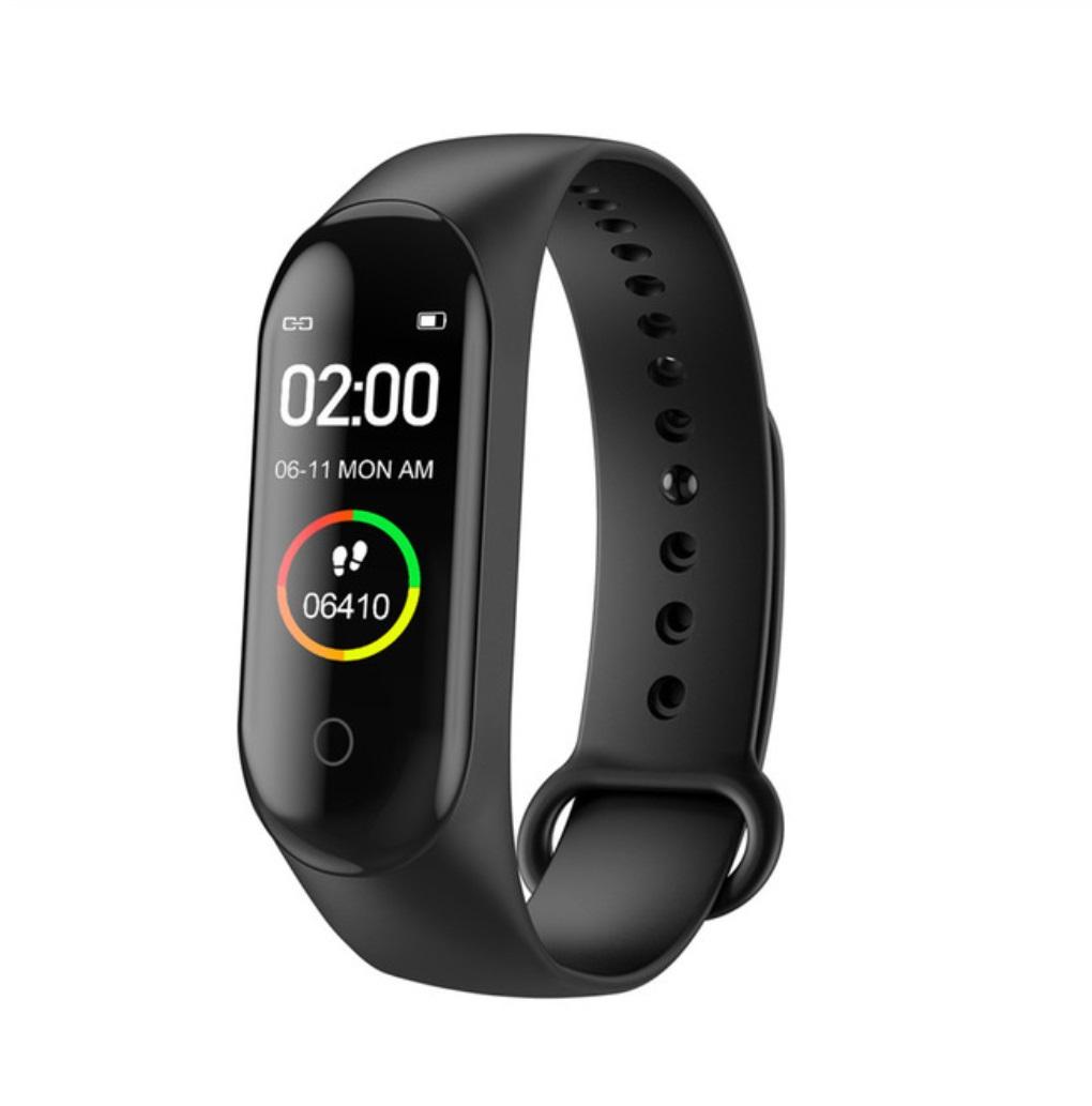 Smart Bracelet Bluetooth Watch Message Notification Heart Rate Step Count IP68 Waterproof black