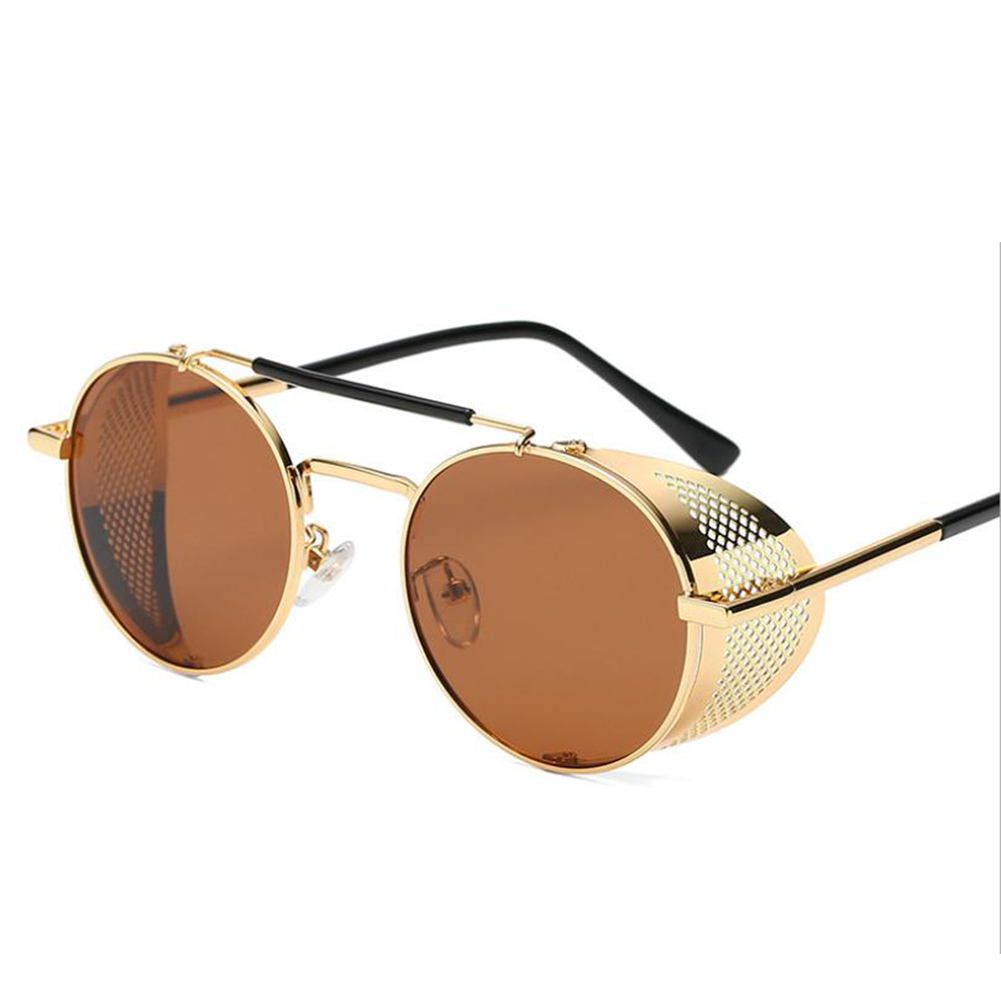 Outdoor Fashion Sunscreen Glasses TAC Lens Polarized/Not Polarized Glasses for Outdoor Sports Gold frame tea_Polarized light